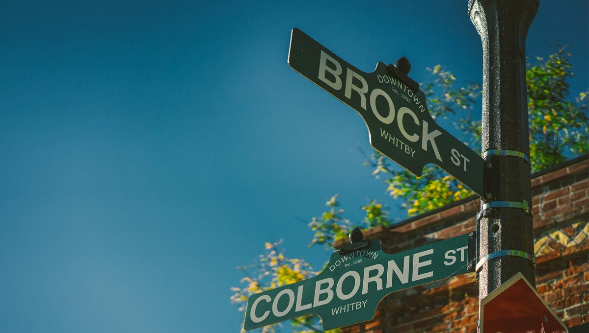 downtown-street-name-sign-whitby-ontario-brookfield-residential