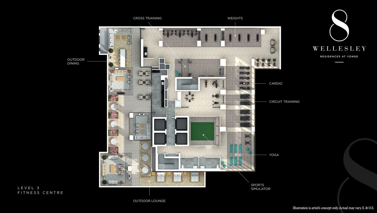Copy of 8 Wellesley - Level 3 Plan (Fitness Centre)