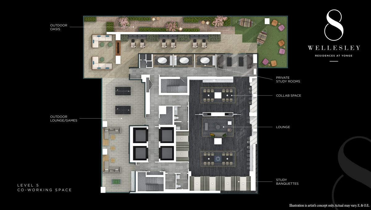 Copy of 8 Wellesley - Level 5 Flat (Co-Working Space)
