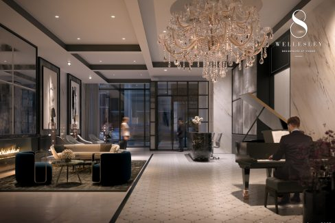 Copy of 8 Wellesley - Lobby, Furnished With Fendi