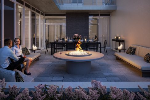 The Dylan North Outdoor Terrace