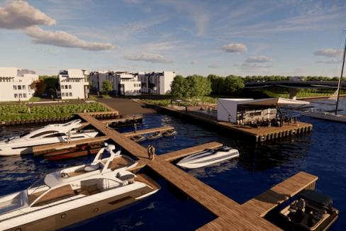 Aerial - Dockside