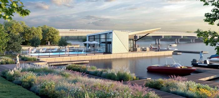 Pool House and Docks
