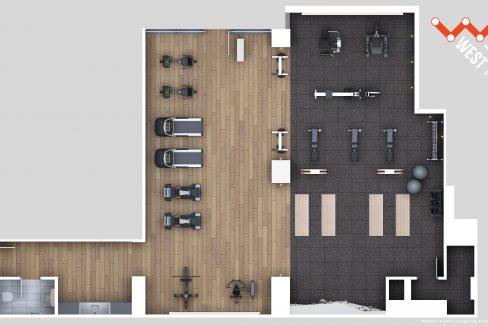 WestLine Condos - 2D Amenity Flatplan - Fitness Centre